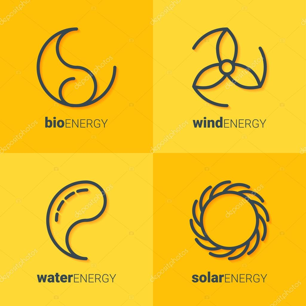 Renewable energy icons