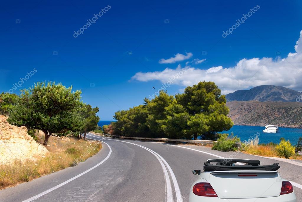 mountain road  car