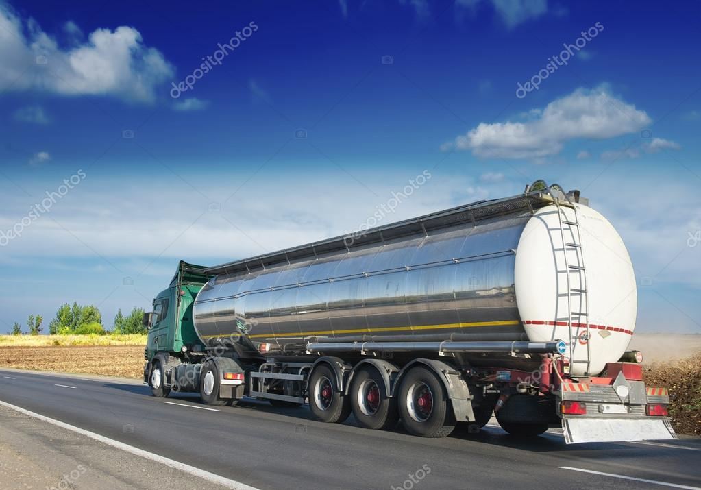 Gas tanker on the road