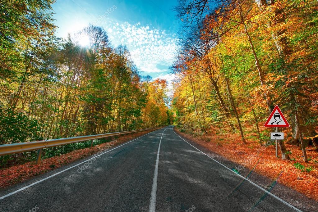 Фотообои Mountain road