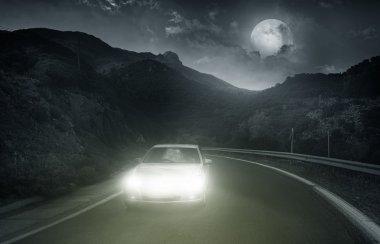 Driving on an asphalt road