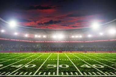 football stadium before the game