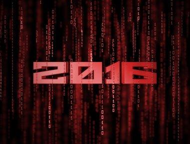 3D 2016 Matrix Background