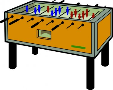 Illustration of a Foosball Table