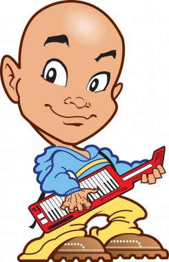 Bald Keyboard Player