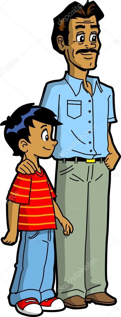 Wektory stockowe: ojciec i syn, tata syn - rysunki, obrazy, ilustracje |  Depositphotos