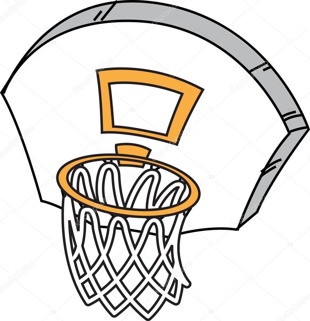 aro de baloncesto de dibujos animados vector de stock basketball hoop vector art baseball vector art