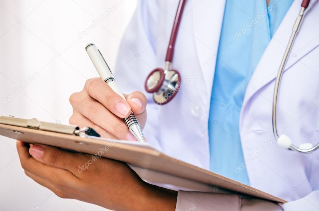 Doctor writing