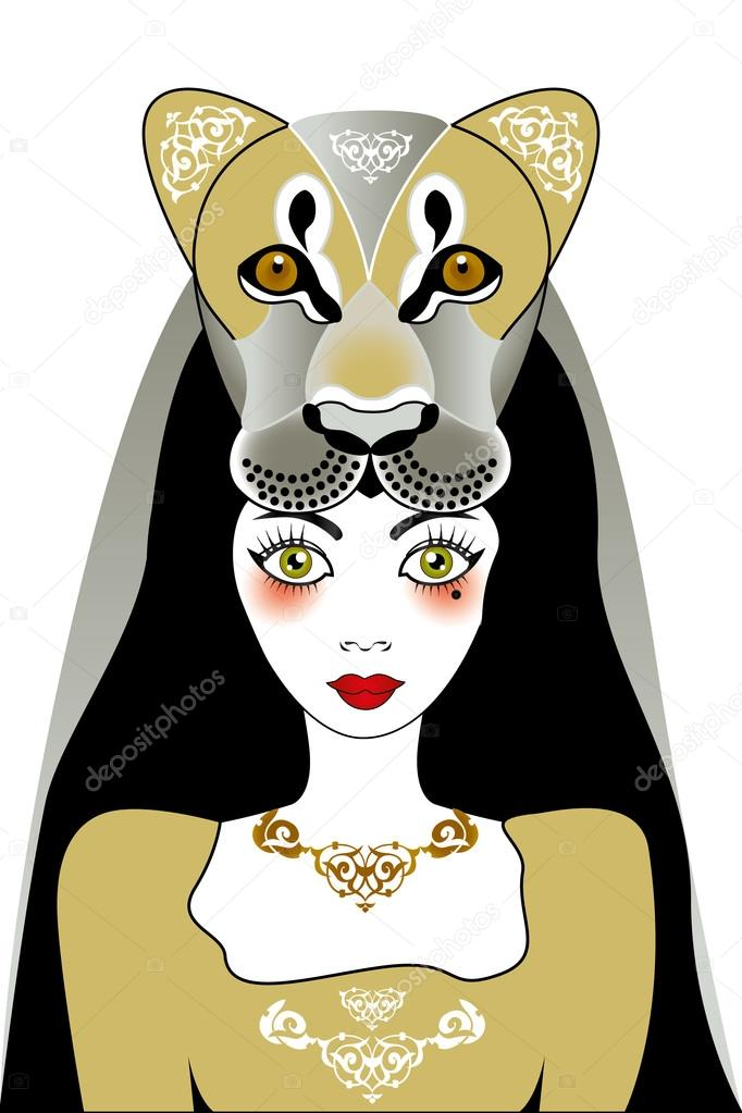Tattoo Lion Woman Stock Vector Vivelafrance 91130746