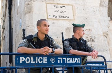 Police officers in Jerusalem
