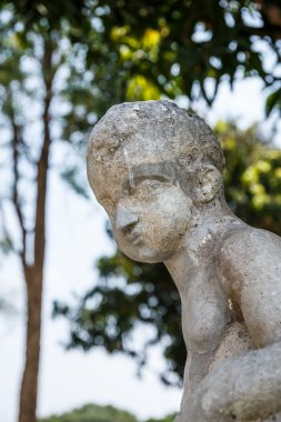 Human sculpture Bang Pa-in Palace, Imperial Palace,Ayutthaya Thailand