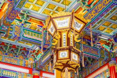 Nonthaburi -THAILAND -December 27:lamp in Chinese temple at Wat