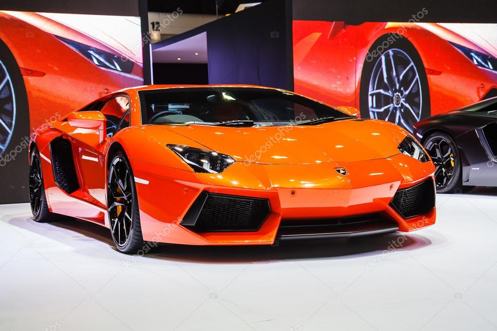 Bangkok, Thailand - April 4, 2015: Lamborghini bikini car shows