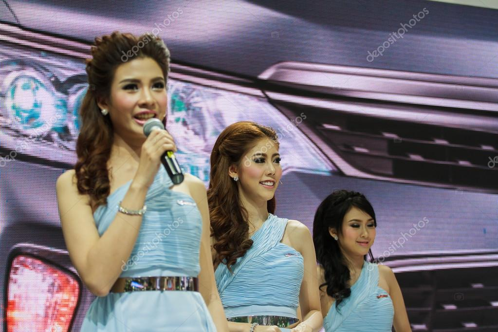 Bangkok, Thailand - April 4, 2015: Toyota booth presenter demons