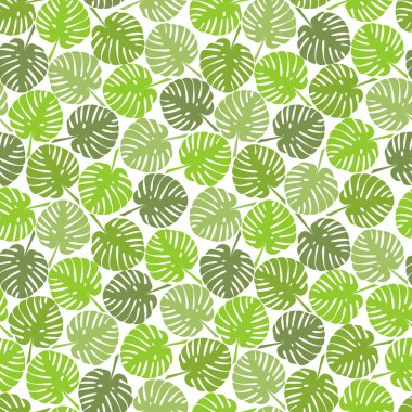 Abstract Vector tropical seamless floral pattern