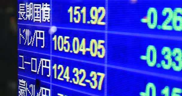 Elektromos hirdetőtábla a tokiói Yaezu üzleti városban, éjjeli közelkép.