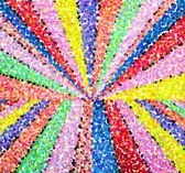 Fotografie Multicolored pointillized abstract, with colorful of light backg