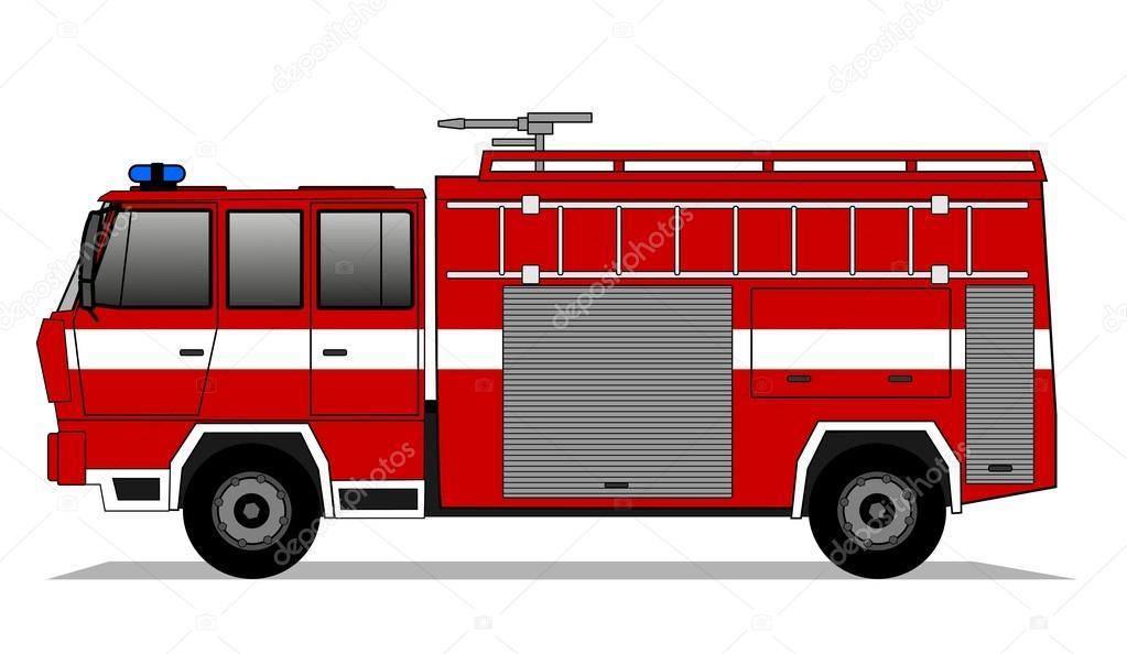 Yangın Kamyon çizimi Stok Vektör Brudercz 93440130