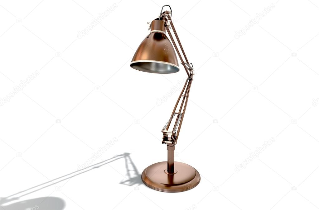 Lampada da scrivania di rame dellannata u2014 foto stock © albund