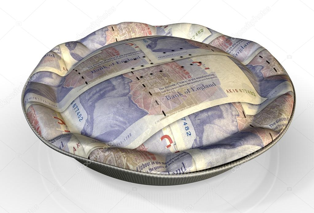 Money Pie British Pound Stock Photo Albund 54620753 Perspective View