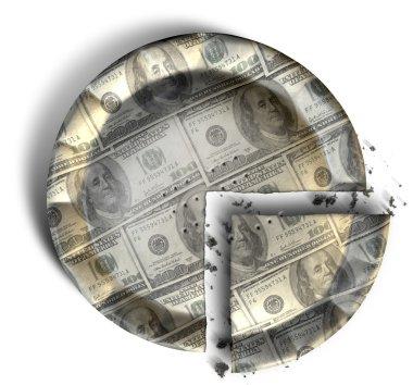 Slice Of US Dollar Money Pie