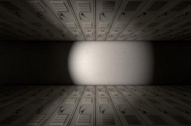 School Locker Corridor
