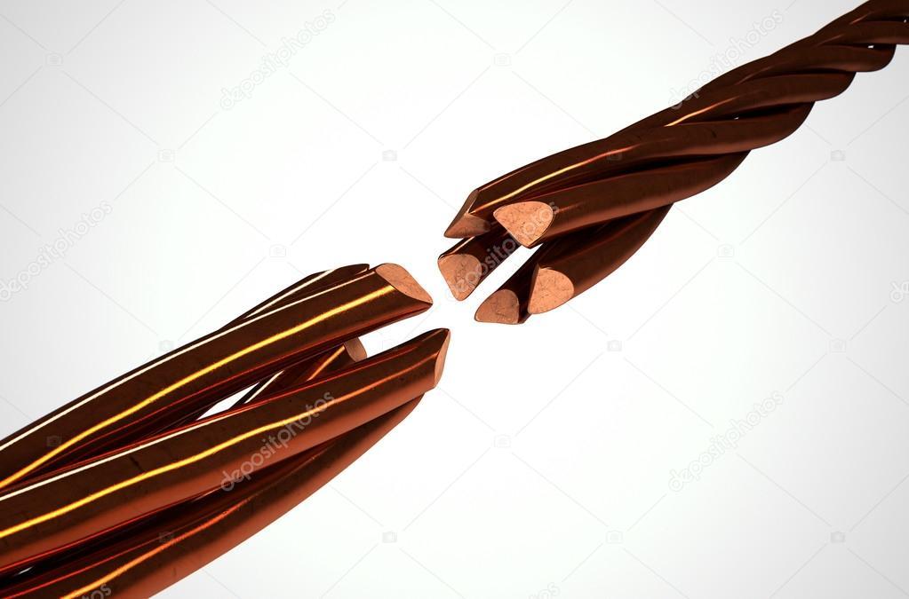 Copper Wire Strands Disconnected — Stock Photo © albund #97340646