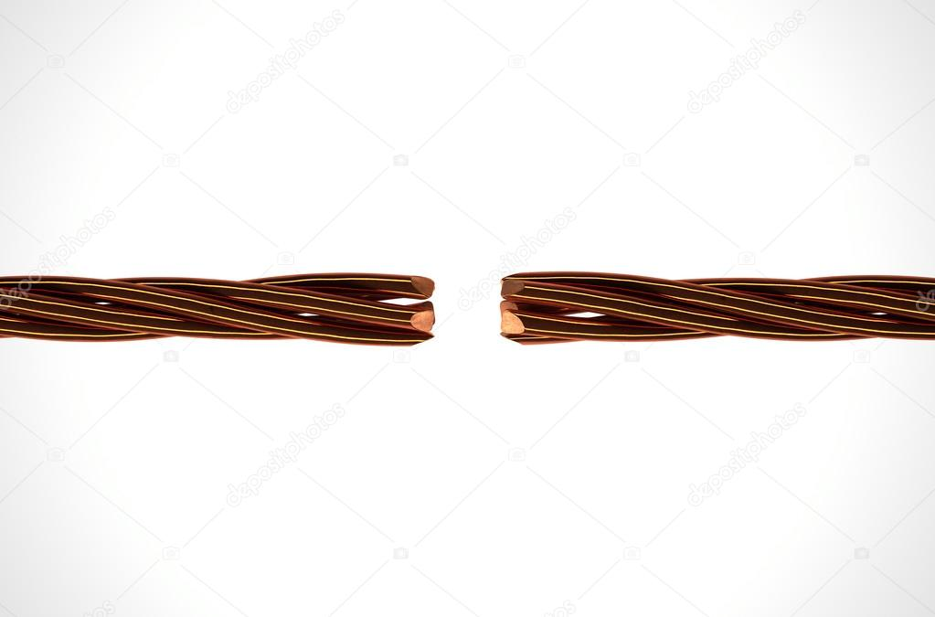 Copper Wire Strands Disconnected — Stock Photo © albund #97341230