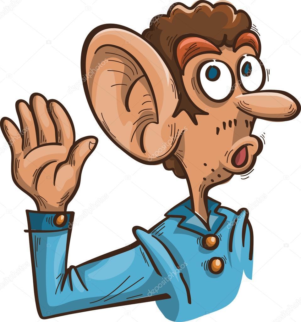 Homme avec grande oreille image vectorielle odrina - Clipart oreille ...