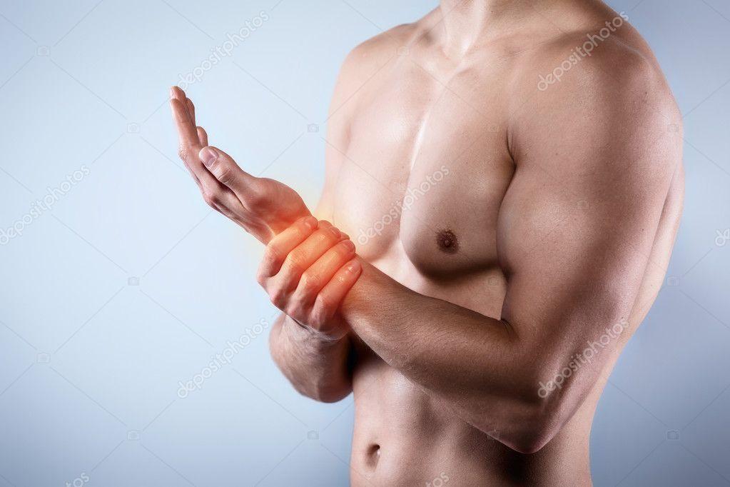 Concept créatif pour douleur du corps — Photographie ...