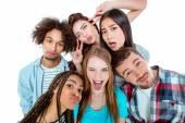 Obrázek mladí přátelé, multikulturní