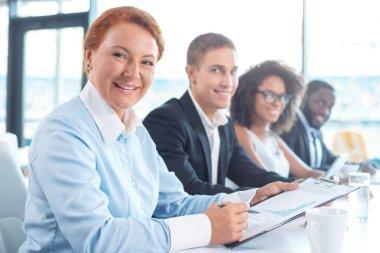 Concept for multi ethnic business team