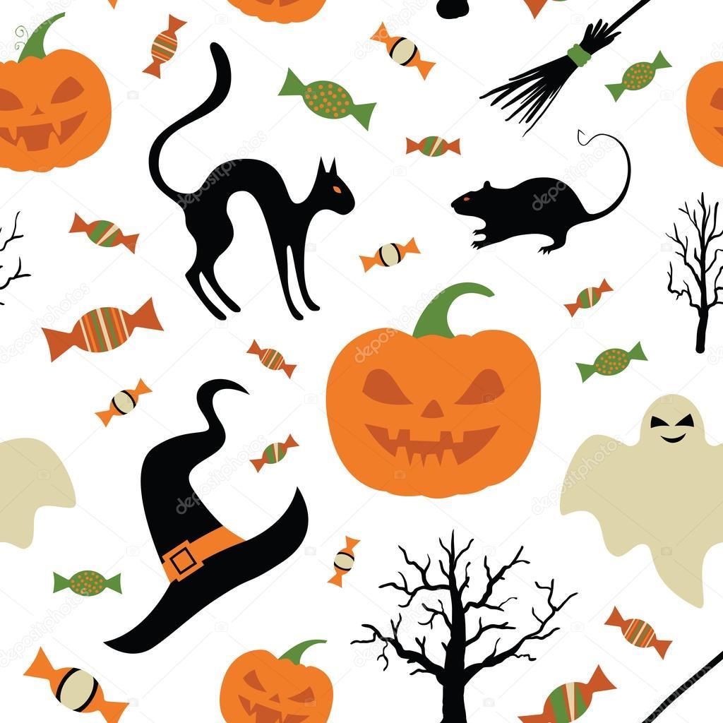 Halloween Thema.Leuke Creatieve Textuur Met Halloween Thema Ontwerpen