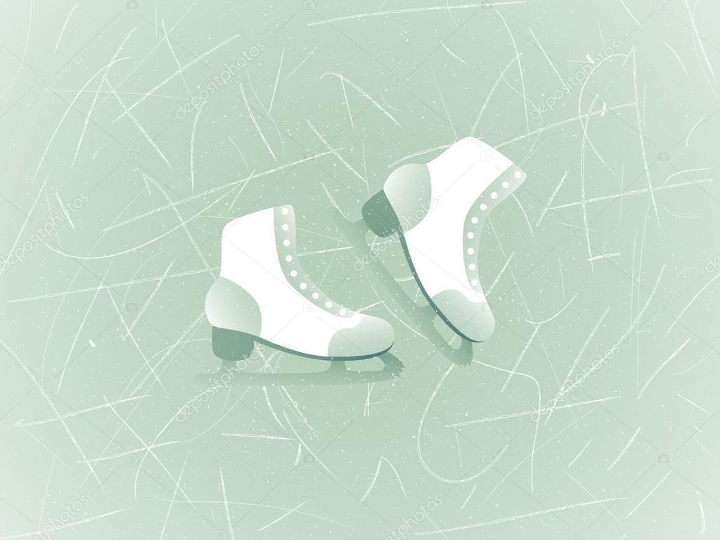 Figura skate en una pista de hielo. Fondo de vector con textura ...