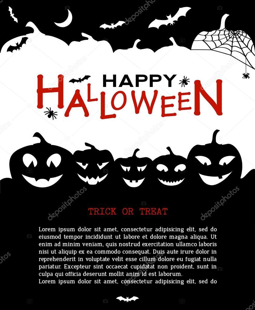 Calabazas de halloween dise o y casas fondo de terror - Calabazas de halloween de miedo ...