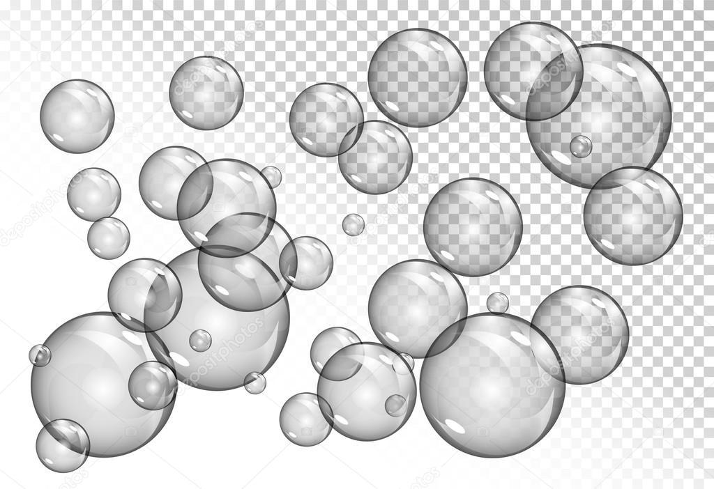 253bc4940ee bolhas em fundo transparente — Vetores de Stock © arkela  107982334