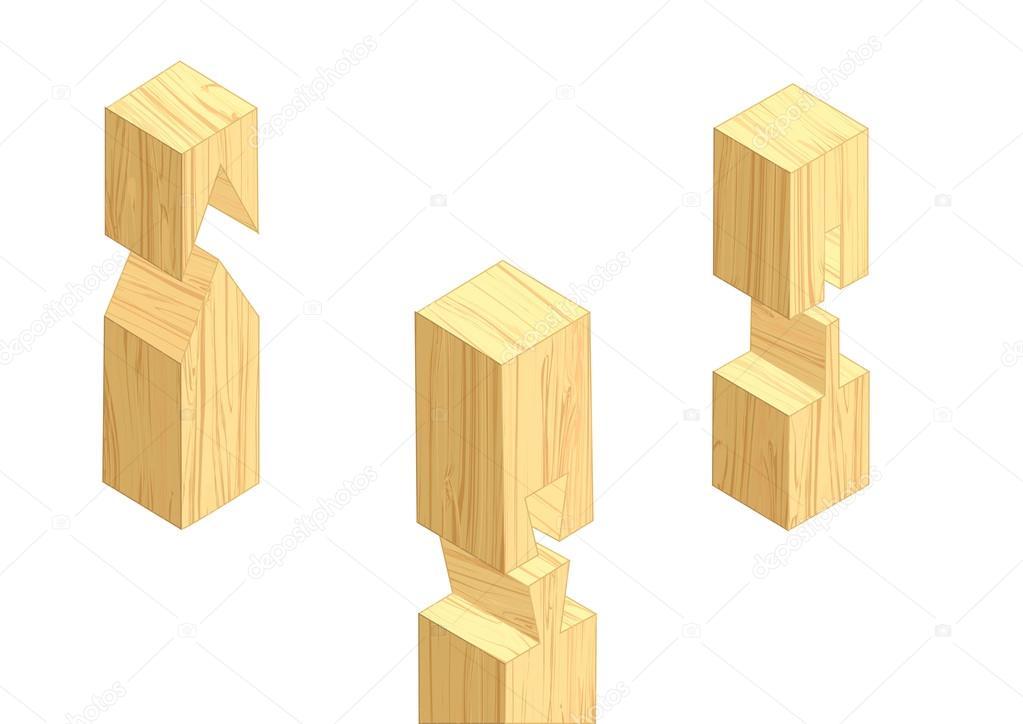 Tischlerei Verbindungen 3 Stockvektor Arkela 94121044