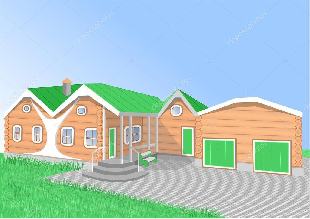 Casa De Color Naranja Dibujos Animados Vector De Stock Arkela