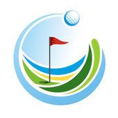Fotografie Golf-Emblem