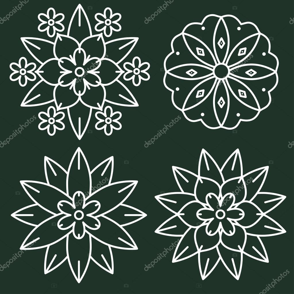 kolam style elements stock vector elyomys 95563850