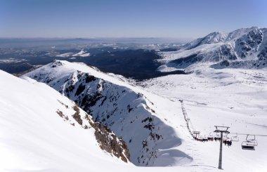 Skiing in Tatra Mountains in Poland