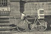 Pošťák kolo, retro styl