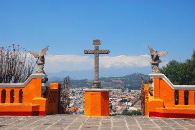 Cholula Pyramid in Puebla, Mexico