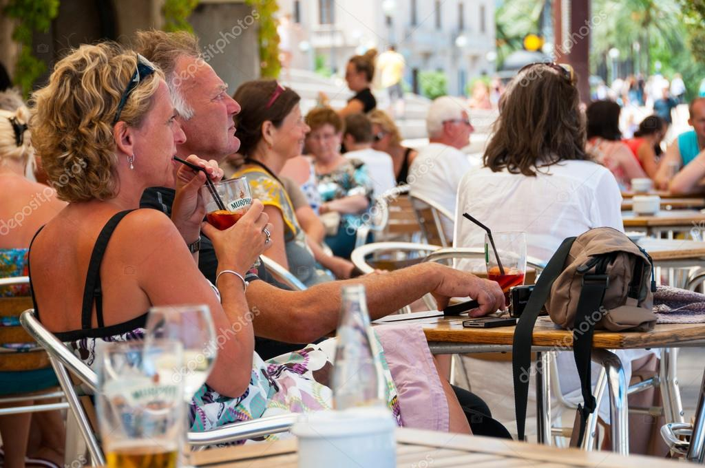 People In A Cafe In Palma De Majorca Spain Stock Editorial Photo C Madrugadaverde 81124086