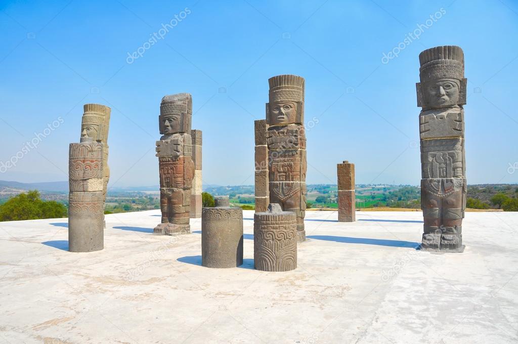 Toltec Warriors, Pyramid of Quetzalcoatl in Mexico
