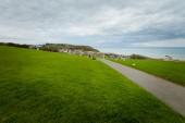 Krásné panoráma města Hastings v Anglii