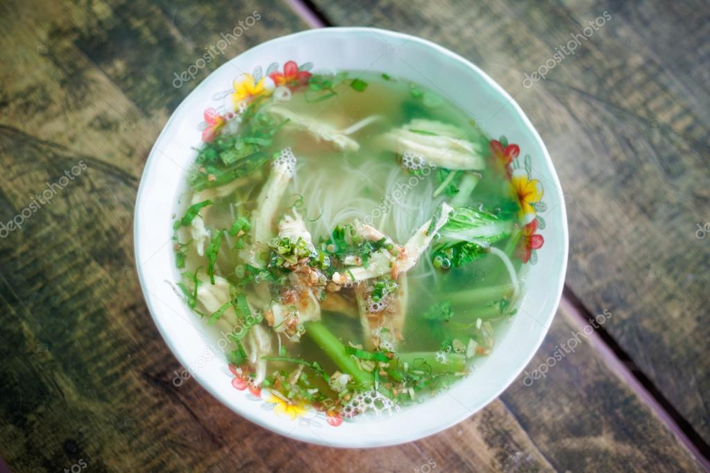 Cambodian broth with noodles