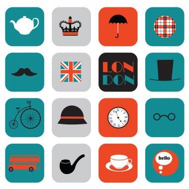 Flat London icons
