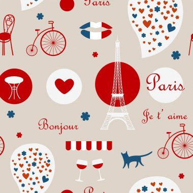 red Paris background