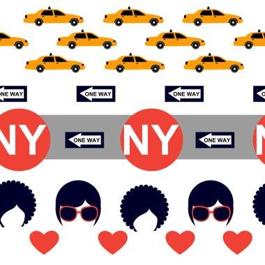 White New York pattern